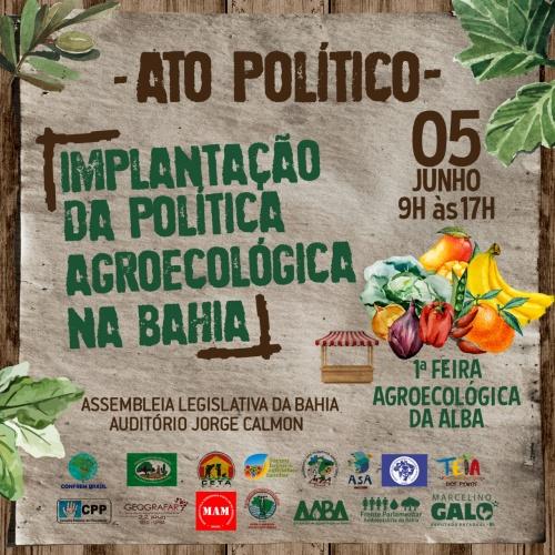ATO POLÍTICO | Alba promove ato político pela aprovação da Lei de Agroecologia e Produção Orgânica