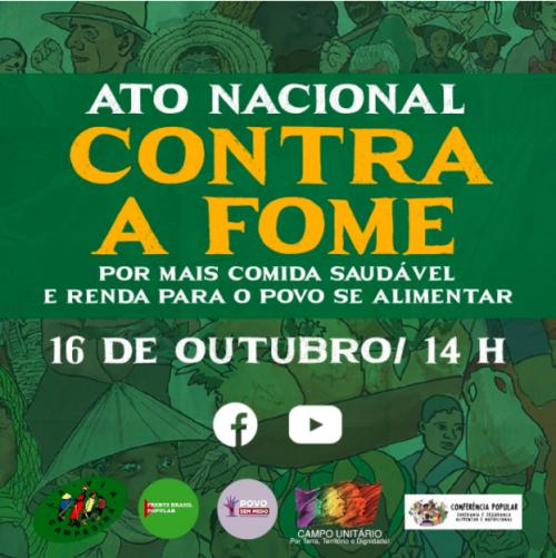 Dia Mundial da Alimentação é marcado pela luta dos movimentos no combate ao retorno da fome no Brasil