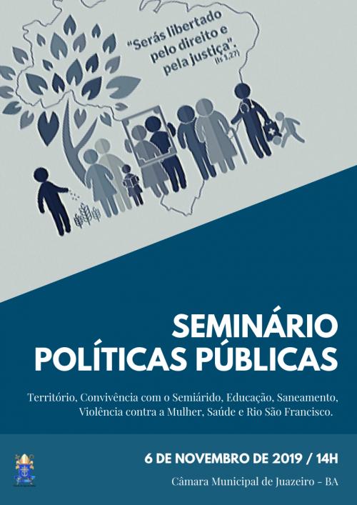 SEMINÁRIO | Políticas Públicas serão discutidas durante Seminário em Juazeiro