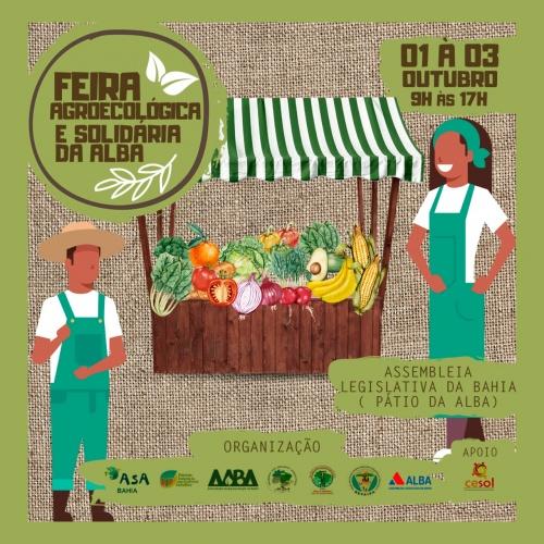 FEIRA DA ALBA | Alba promove Feira Agroecológica e Solidária nos dias 1,2 e 3 de outubro