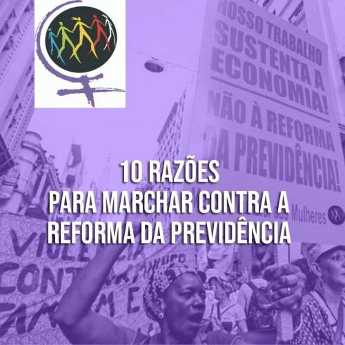 NOTA | Marcha Mundial de Mulheres mostra 10 razões para marcharmos contra a Reforma da Previdência