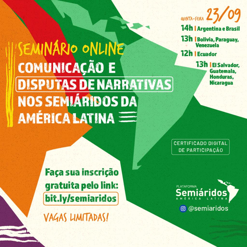 Seminário online debate comunicação nos Semiáridos da América Latina