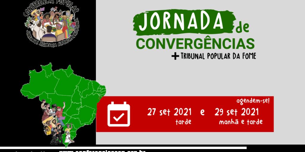 Jornada de Convergências e Tribunal Popular da Fome têm novas datas: 27 e 29 de setembro