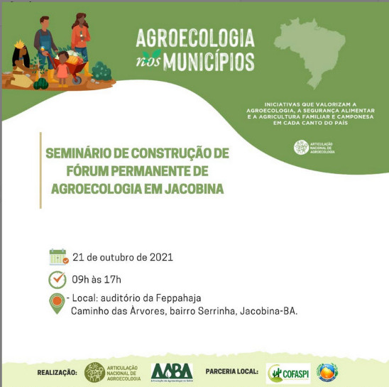Seminário propõe construção de fórum agroecológico permanente em Jacobina
